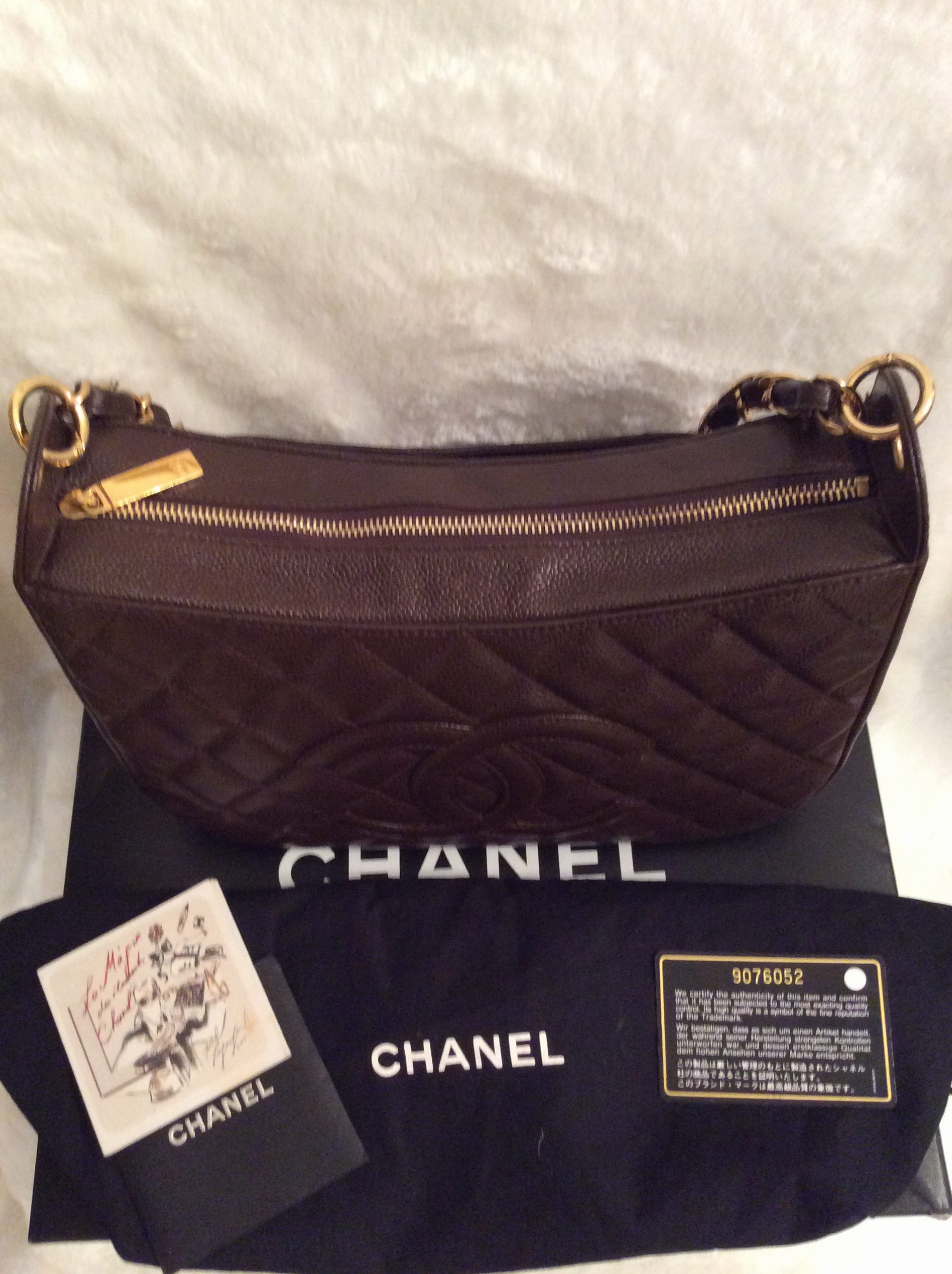c155da4274580c ITEM SOLD: Chanel: Authentic Vintage Chocolate Brown Quilted Caviar ...